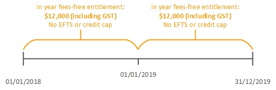 Figure 1: In year fees-free entitlement